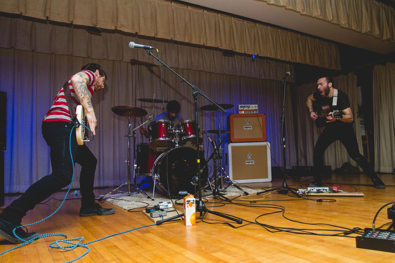 The band, DIA, from Carmel, NY performing at the first Musicians Sans Frontieres show at St. Joseph's Church on Jan. 31, 2014. Photo by Gabriela Jeronimo