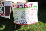 A list of all the farms, environmental organizations and sponsors at Farm Fest. Photo by Gabriela Jeronimo.