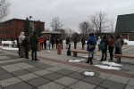 Students form a circle to share their stories relating to Martin's injustice. Photo by Gabriela Jeronimo.