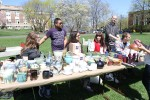 Students from the ceramics department selling pottery at Farm Fest. Photo by Gabriela Jeronimo.
