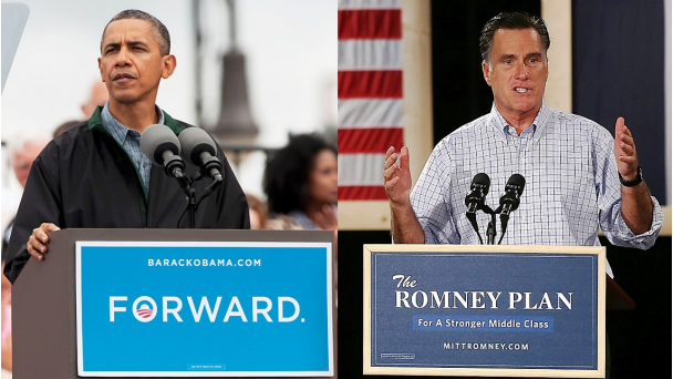 President Barack Obama and Republican candidate Mit Romney. Photo courtesy of BET.com