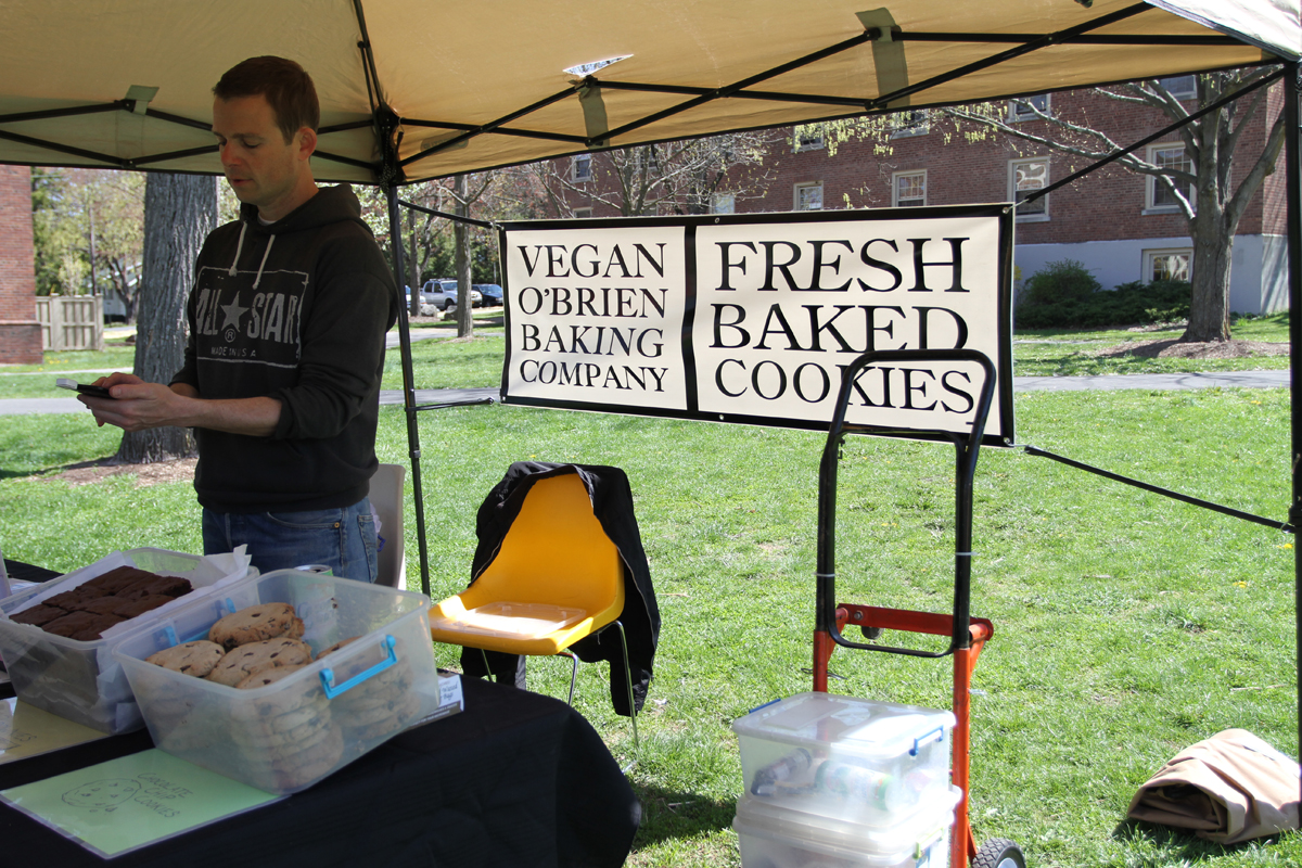 The Vegan O'Brien Baking Company had a tent at Farm Fest and sold fresh baked vegan cookies and brownies. Photo by Gabriela Jeronimo.