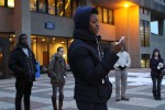 "Member of Urban Lyrics, Samika Jeffrey performs a spoken word piece called ""A Poem for Trayvon."" Photo by Gabriela Jeronimo."