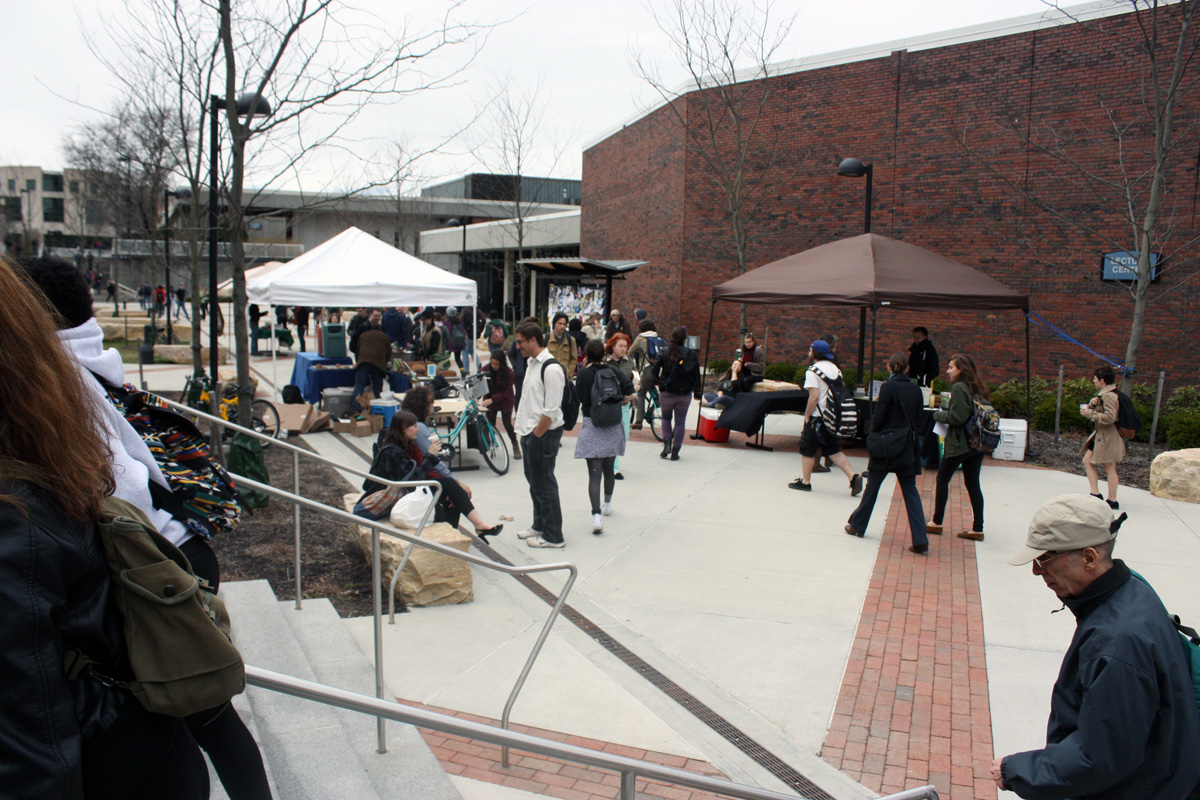 n an effort to cultivate awareness and encourage support of sustainable agriculture, the Environmental Task Force hosts a farmers market on campus every Thursday from 10:30 a.m. to 2:30 p.m. Photo by Lauren Reid.