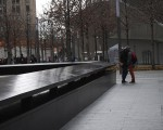 A couple consoles each other after staring into the fountain brings tears to the eyes of the young woman. They stand like this for almost 10 minutes, holding each other. Photo by Emily DeFranco.