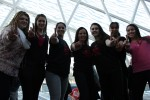 Students and Corinna Caracci give the One Billion Symbol after a job well done! Photo by Lauren Reid.
