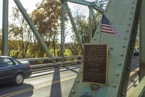Plaque of Carmine Liberta on the bridge of his namesake. Photo by Vincent Carnevale