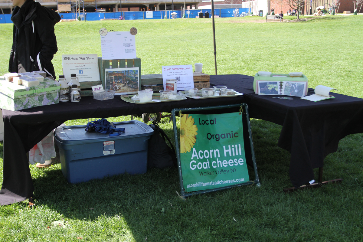 Acorn Hill Goat Cheese from Walker Valley, N.Y. had a tent set up at Farm Fest. Photo by Gabriela Jeronimo.