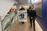 The march makes its way through the Student Union Building, bringing the event to those who didn't come out. Photo by Gabriela Jeronimo.