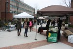 Each week, local farmers and vendors are on the Academic Concourse – weather permitting – selling fresh produce and other items to the campus community. The merchandise changes from week to week depending on the participating vendor. Photo by Lauren Reid.