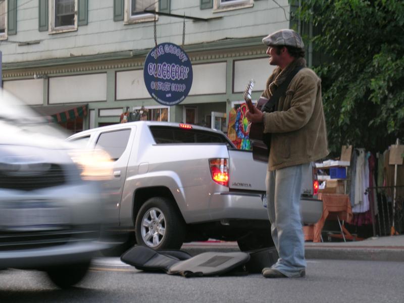 Street musician New Paltz, NY. Emil Langballe