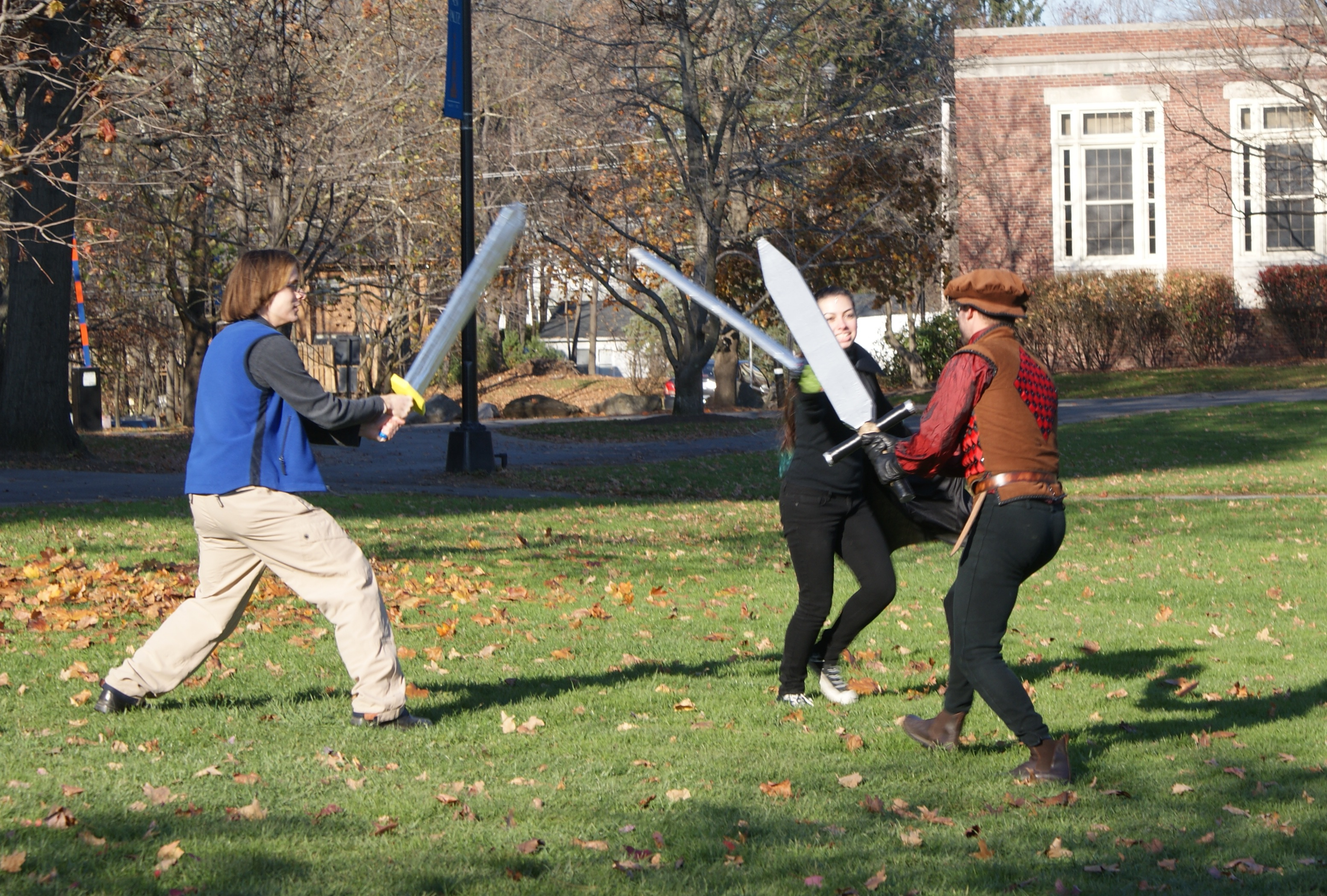 LARPing on SUNY New Paltz campus. File photo by James Leggate.