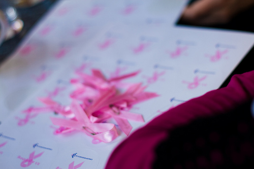 Pink Ribbons. Photo courtesy of Flickr user Kaichanvong