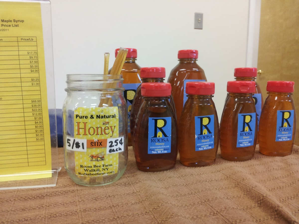 Honey from Kiernan Farm in Brunswick, N.Y. Photo by Kelly Fay.