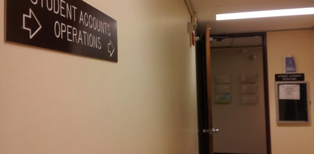 The office of Student Accounts is located on the second floor of Haggerty Administration Building. Photo by Kelly Fay.
