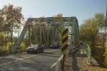 The Carmine Liberta Bridge as seen from the Village of New Paltz. Photo by Vincent Carnevale