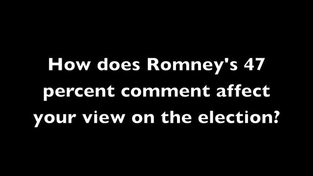 Video of the Week: Mitt Romney's 47% Comment