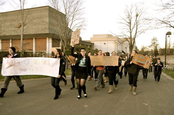The march was a form of activism against victim blame in society.  Photo by Alicia Jacobs