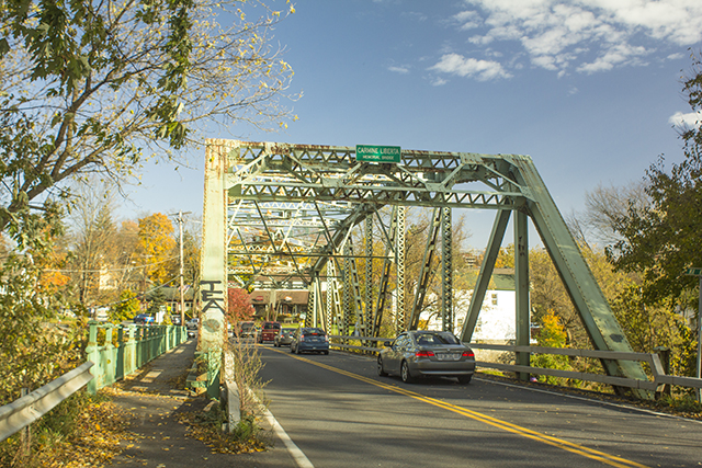 The Carmine Liberta Bridge as seen from the Town of New Paltz. Photo by Vincent Carnevale
