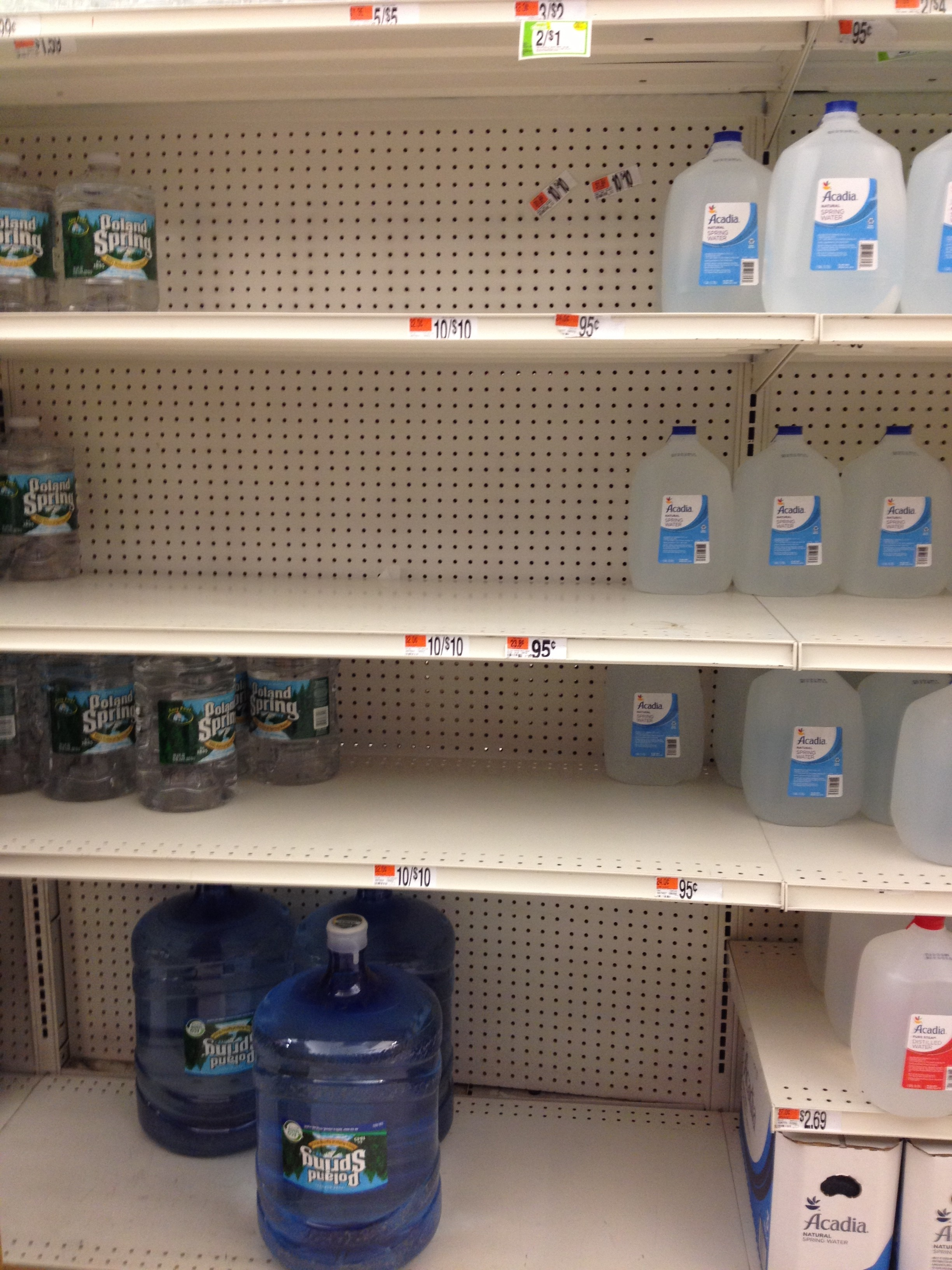 Water was scarce on Thursday night. Photo by Chelsea Hirsch.
