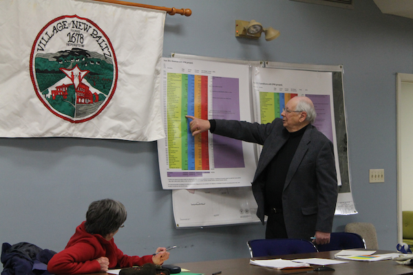 At this Feb. 12 meeting, Lent, former town supervisor, went line by line down the 2011 revenue figures used by the committee. Photo by Faith Gimzek.