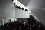 Students gather in the Atrium on Feb. 14 to watch the One Billion Rising Flash Mob. Photo by Lauren Reid.