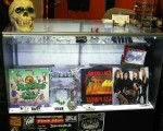 The main display holds three hard to find Metallica albums that Dan has confessed to becoming attached to. The album on the far right is a rare vinyl of Metallica, live in concert. Photo by Tim Smith
