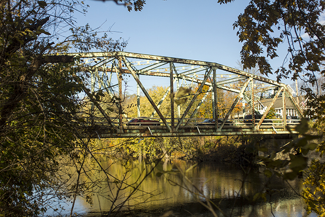 The Carmine Liberta Bridge as seen from the banks of the Wallkill River. Photo by Vincent Carnevale