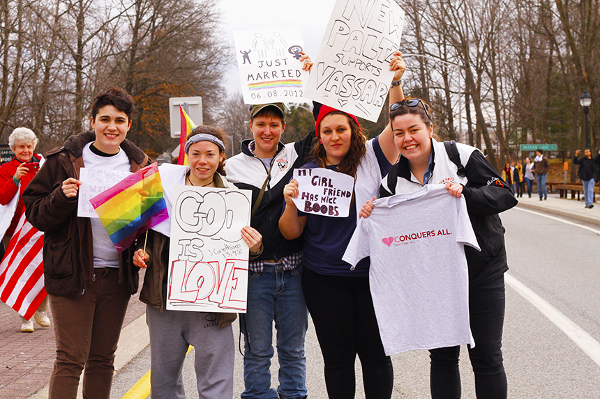 Westboro Baptist Church Protests at Vassar College