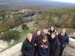 Some of the students visiting Mohonk Preserve.