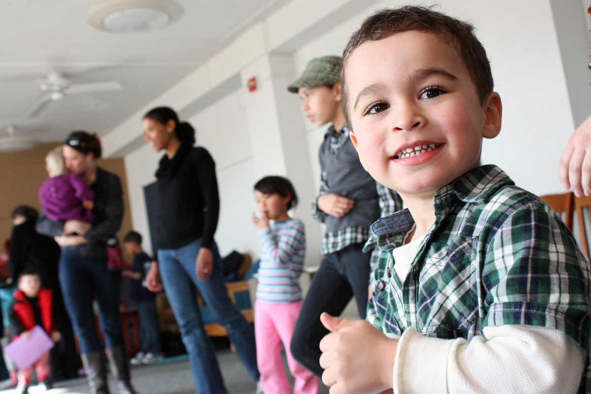 Michael, 2, is looking forward to another round of the 'hokey pokey.' Photo by Lauren Reid.