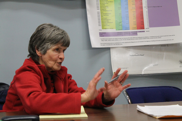 Rhoads, who worked on the League of Women Voters' New Paltz consolidation proposal in the early 70s, ran on the One Community platform in the 2011 village elections. Photo by Faith Gimzek.