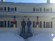 Alpha-Epsilon Pi members Evan Rosenberg and Jordan Mendelson