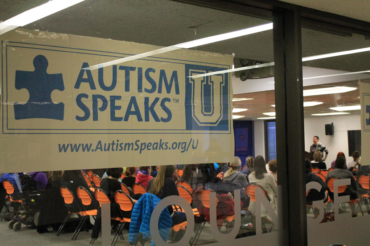 The awareness event was hosted by Autism Speaks U in the Student Union Building 100. Photo by Audrey Brand.