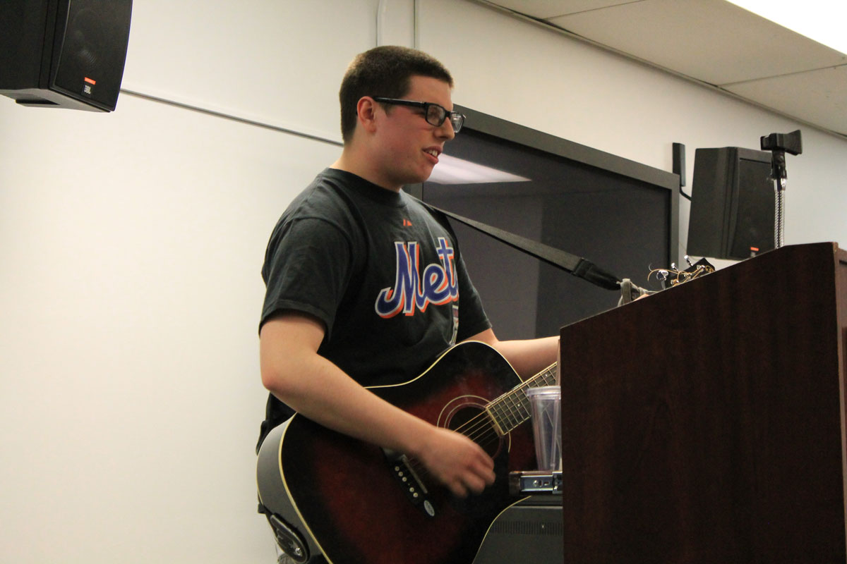 """Cameron Kirkpatrick performs """"You Got It,"""" by Roy Orbison. Photo by Audrey Brand."""