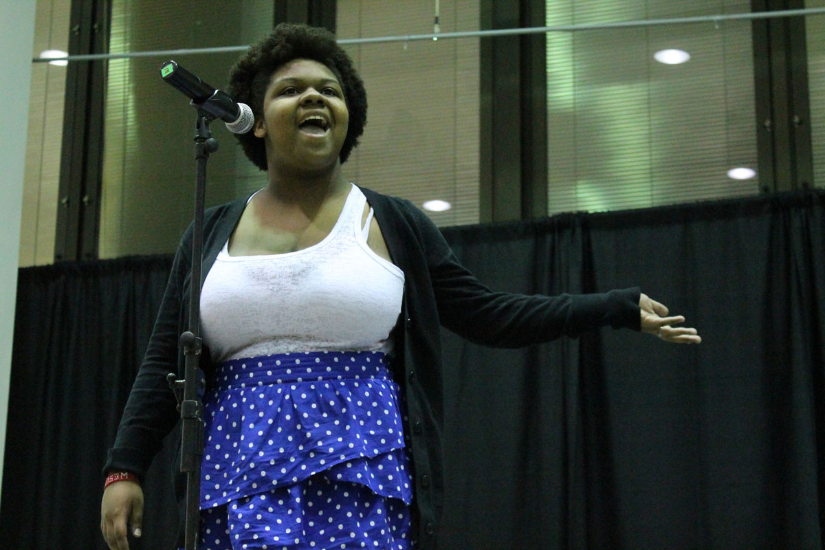 Markiesha Hill performing. Photo by Audrey Brand.