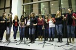 """The all female campus acapella group, """"The Sexy Pitches,"""" performs. Photo by Audrey Brand."""