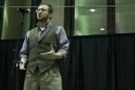 Zach Goldberg performing a poem. Photo by Audrey Brand.