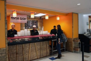 One option for students at the Student Union is Tokyo Sushi. Photo by Alicia Buczek.