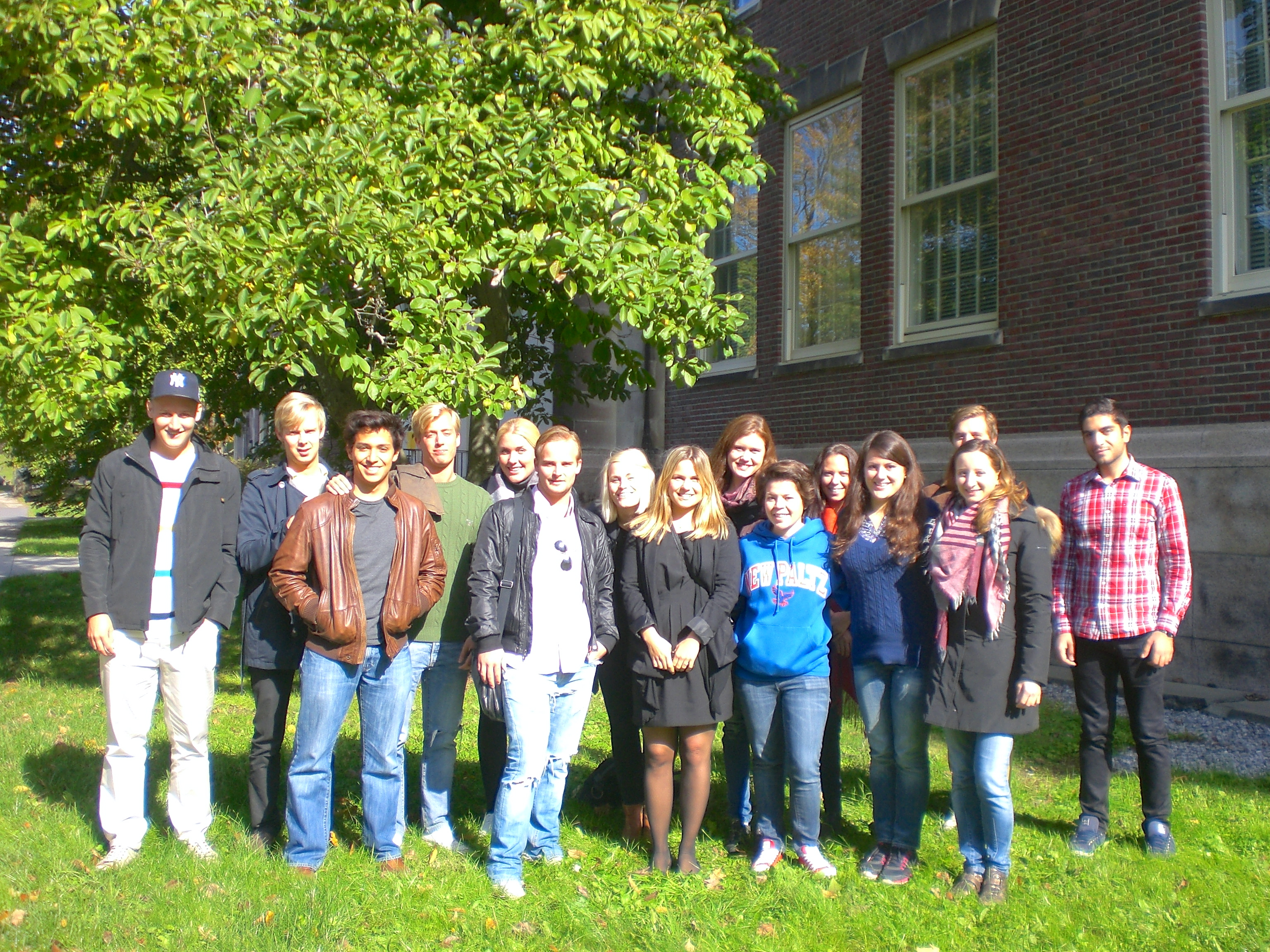 The IIB students on their last day in New Paltz.