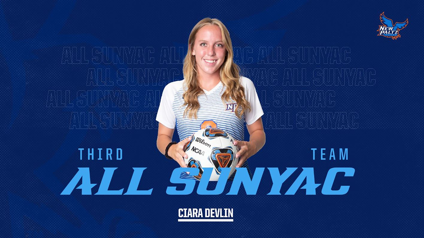 SUNY New Paltz Women's Soccer Sophomore Defender Ciara Devlin Named to All-SUNYAC Third-Team