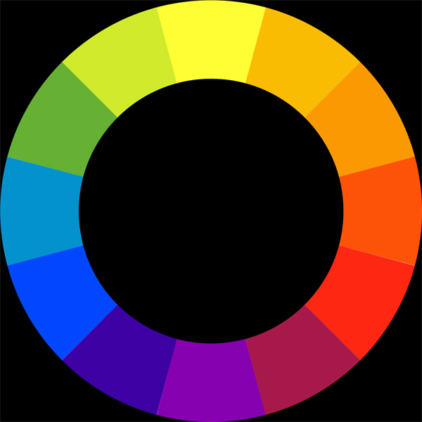 A color wheel. Stock photo.