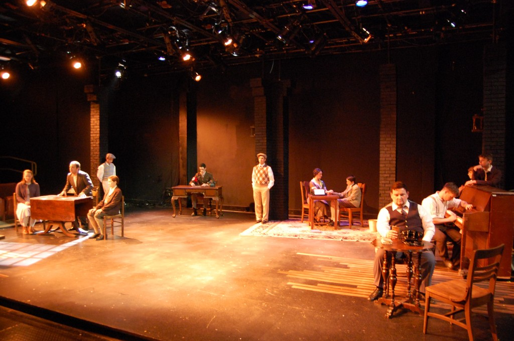 "The cast of ""The Dark I Know"", performed at Parker Theatre in fall of 2012. Photo by Andrew Ricci."