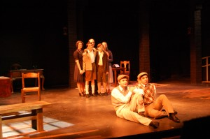 """The cast of """"The Dark I Know"""", performed at Parker Theatre in fall of 2012. Photo by Andrew Ricci."""
