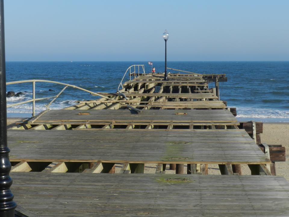 The boardwalk in Ocean Grove, N.J. in the aftermath of Sandy. Photo by Natalie De Gaetano.