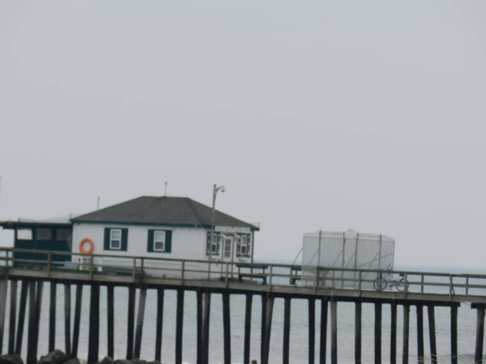 The fishing pier as it stood prior to Hurricane Sandy. Photo by Natalie De Gaetano.