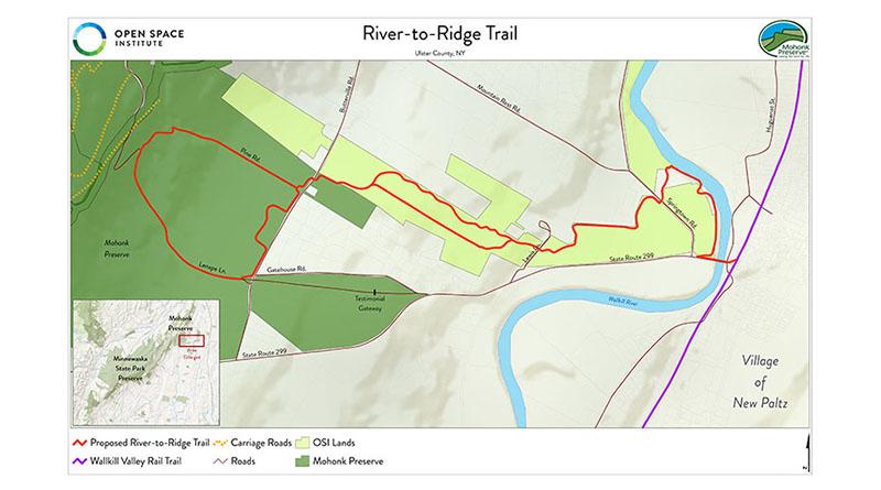 Proposed OSI River-to-Ridge Trail Will Connect New Paltz Village to the Shawangunk Ridge