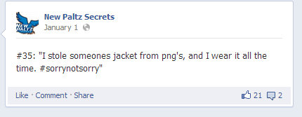 Someone is not sorry they stole a jacket from P&G's.