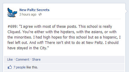 Someone thinks New Paltz is cliquey and boring.