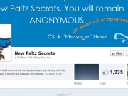 The homepage and logo for New Paltz Secrets.